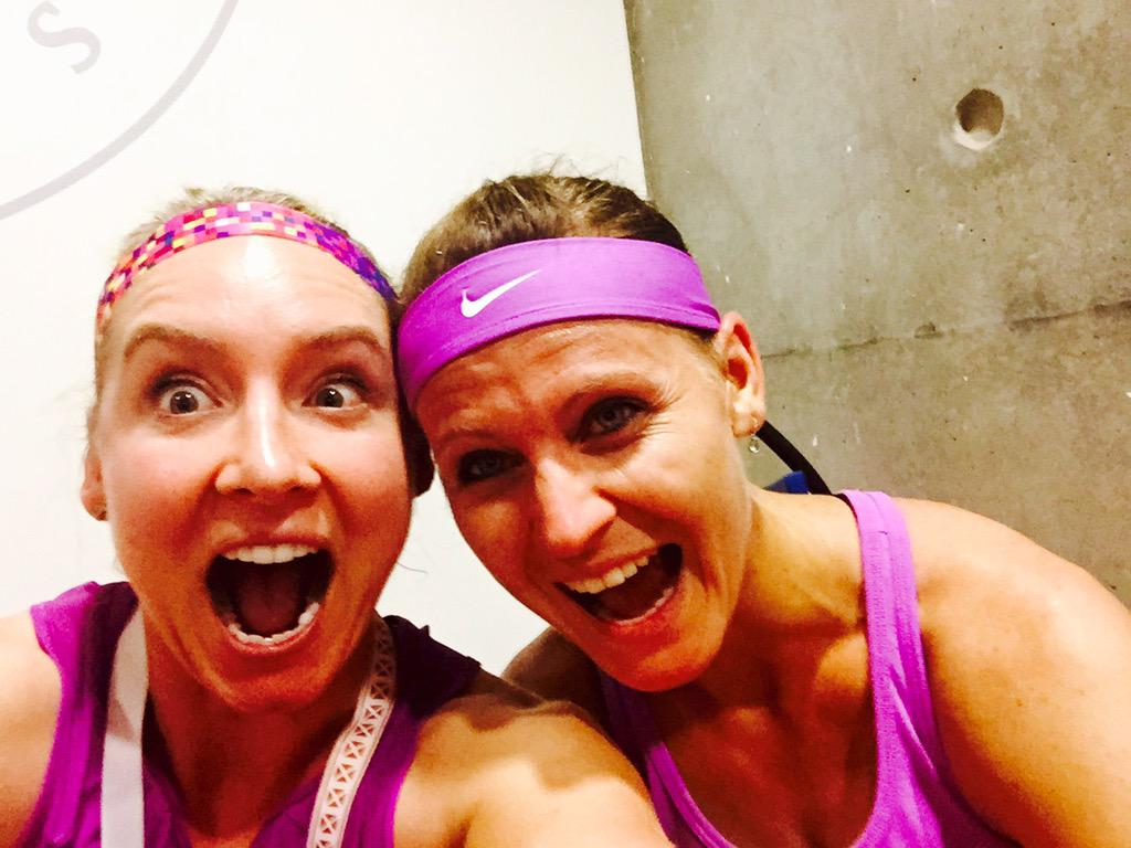 Post Win #Selfie with @luciesafarova ... SO EXCITED!! @rolandgarros #Finals #letsdothis