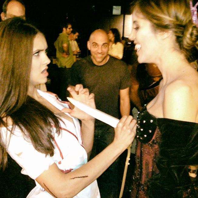 #TBT Just found these two pics on an old thumb drive. Fun with @ninadobrev & @real_kaylaewell during S1 of #TVD http://t.co/KqfyqWJDMm
