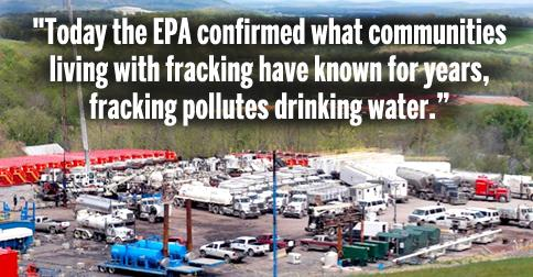 BREAKING: It's Official: EPA Says #Fracking Pollutes Drinking Water http://t.co/HiV02KsVuF @MarkRuffalo @gaslandmovie http://t.co/1J7mcYxXxA