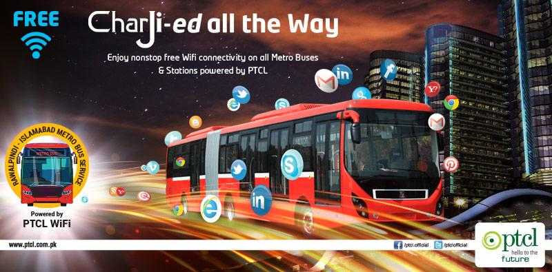 Enjoy nonstop free wifi internet on all Metro Buses & Stations powered by PTCL #PTCLFreeMetroWifi #MetroForTwinCities http://t.co/JQDMWhmBwC