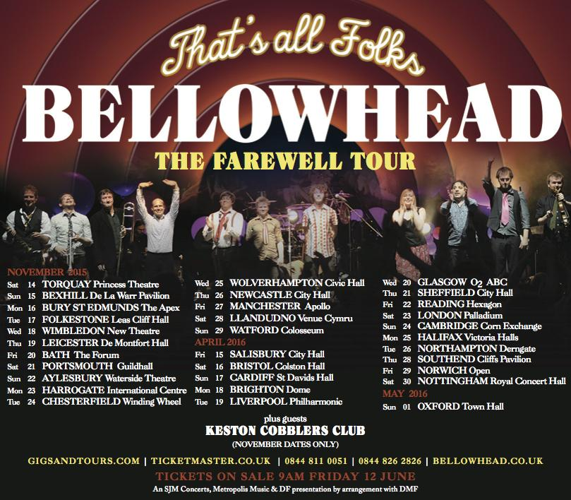 Breaking news. We will be SUPPORTING mighty @Bellowhead in Nov tour. Incredibly excited but so sad they're going. Jx http://t.co/tabQlV0XDV