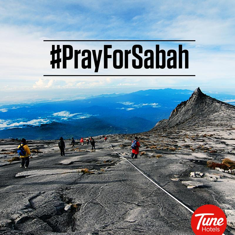 Our thoughts&prayers with all affected by the quake.Mount Kinabalu climbers & rescue team,pls stay safe.#PrayForSabah http://t.co/58YT6t5n5W