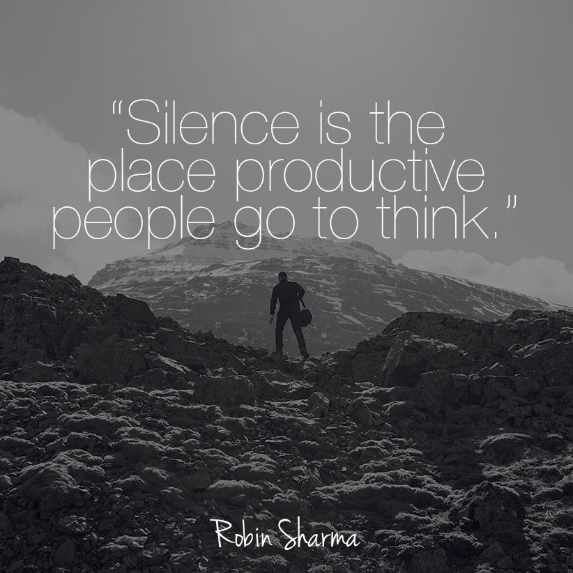 Silence is the place productive people go to think. http://t.co/0MZlUPXPJM
