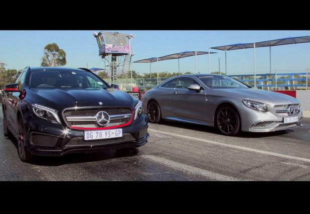 LATEST VIDEO: Watch the mighty #MercedesBenz S 65 AMG take on the GLA 45 AMG #DragRace http://t.co/L0mnkXNH4n http://t.co/muGj3Cpl6R