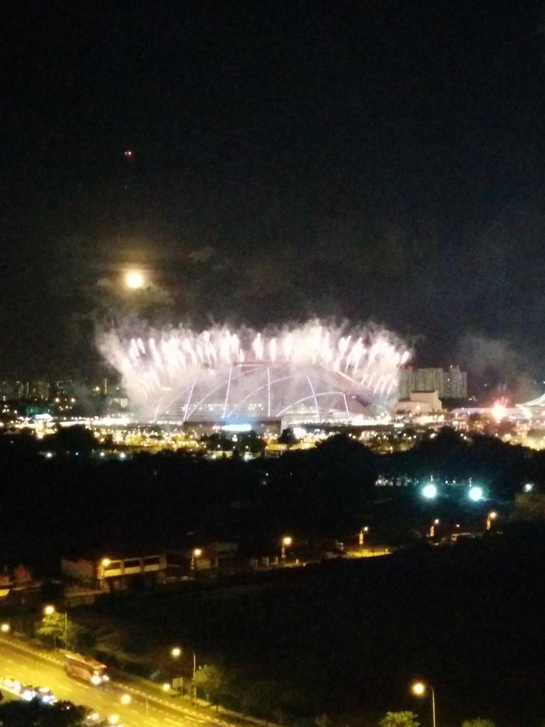 The @seagames2015 opening ceremony fireworks are brilliant. Lucky to have a fab view from our balcony. #sgstories http://t.co/MPhv8BVl1I