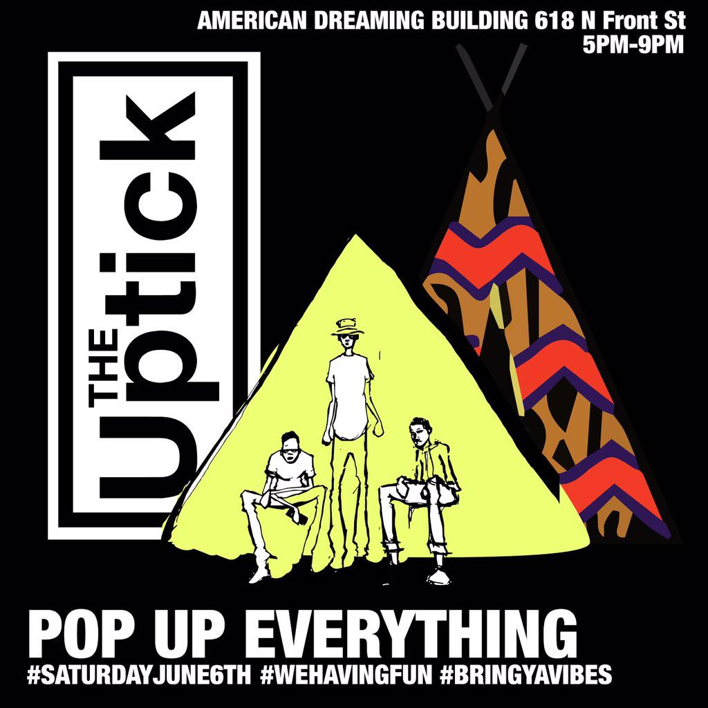 TOMORROW | #TheUptick #PopUpEverything | 618 N.Front St | 5pm - 9pm | http://t.co/Lm7GkAMbbl
