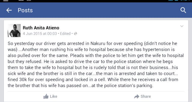 Dear @JBoinnet your men are really this callous. To Kenyan police officers, imagine its your spouse.... http://t.co/00tkovtf7M