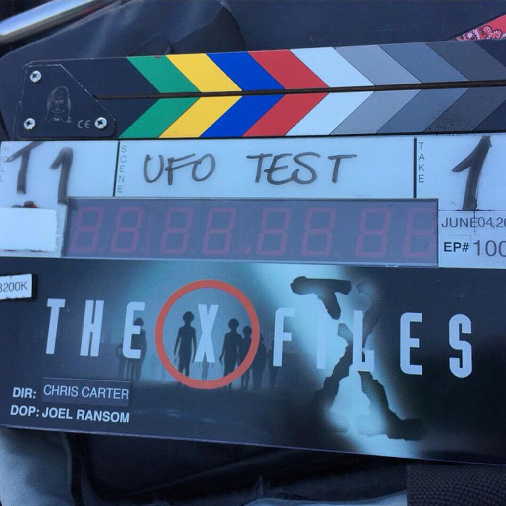 X-Files creator Chris Carter shared this first image via his Instagram account. It's about to get real in Vancouver! http://t.co/ZFzzCHBChm