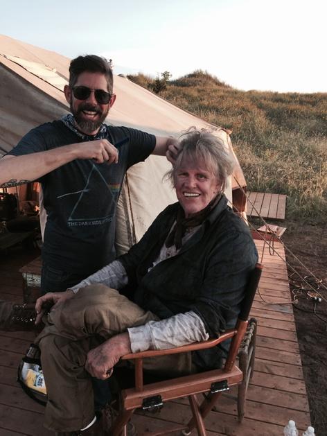 Dad (@THEGaryBusey ) rockin Phyllis Diller hair in Texas http://t.co/aQW9ocsEFv