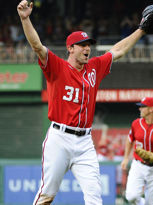 Congratulations @Max_Scherzer @MLB_PLAYERS @Nationals @MLB  on your no-hitter! Way to go. I follow guys who wear #31 http://t.co/64pSq31EuY