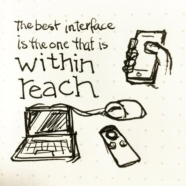 """The best interface is the one that is within reach."" @cameronmoll  Tiny #sketchnotes https://t.co/KdObCMeRBF http://t.co/n1eFWGfAGh"