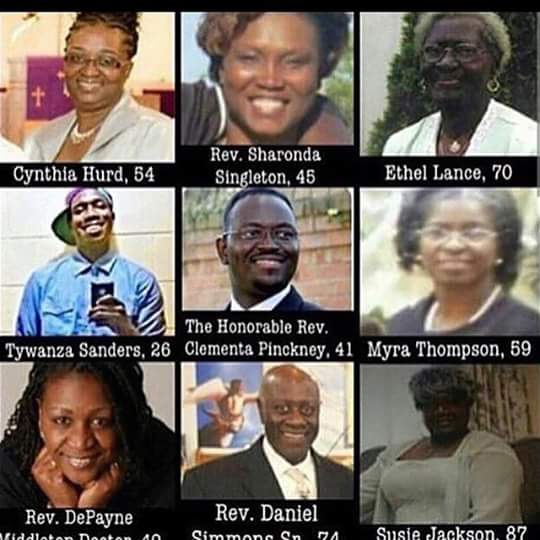 We speak their names. These 9 men & women were upstanding individuals in their community. #Charleston9 http://t.co/EtTi6HKEfK