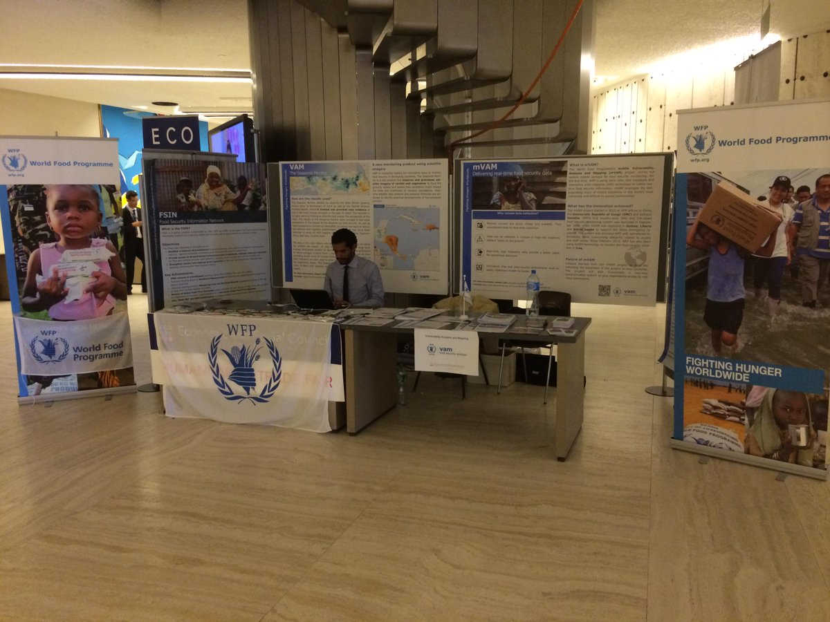 WFP VAM is at the #EcosocHas2015 in Geneva showcasing its work! Pass by to see our innovative work! #foodsecurity http://t.co/0jtEBXjDBB
