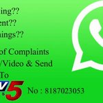 RT @ramsayz4u: Pls RT max..eve-teasing,harassment,illegal things etc.. Pls capture pic/video n send to TV5 NEWS on below details..