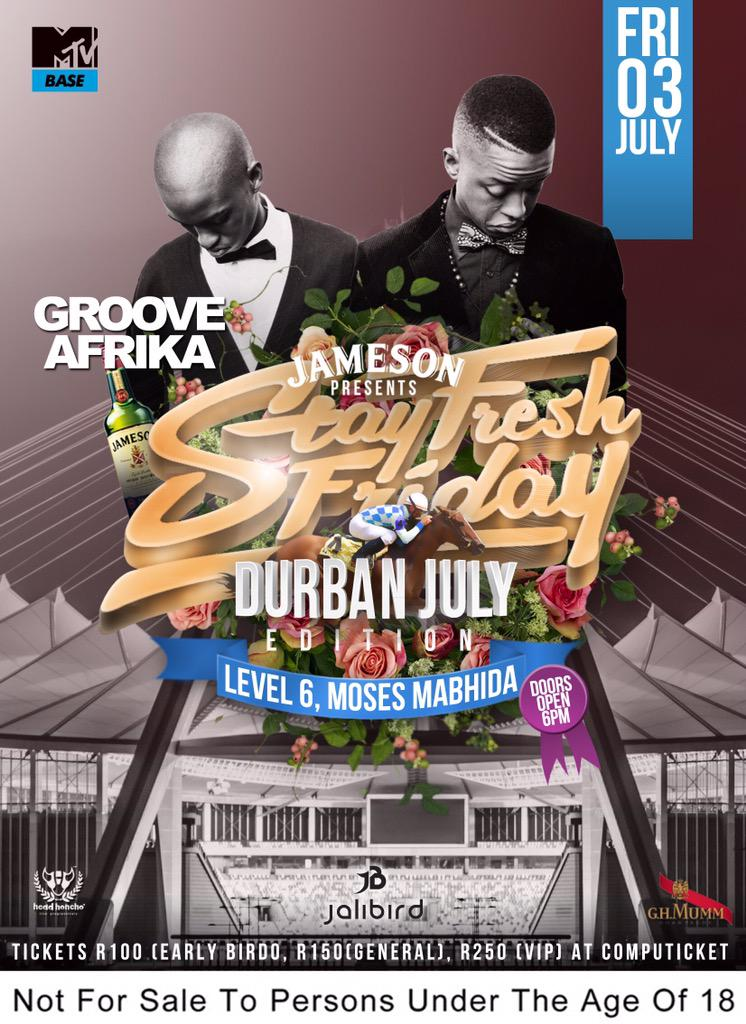 Do y'all know about @GrooveAfrika?!!! These boys are beasts on the decks .... #StayFreshDBN03July http://t.co/qukBidxisr
