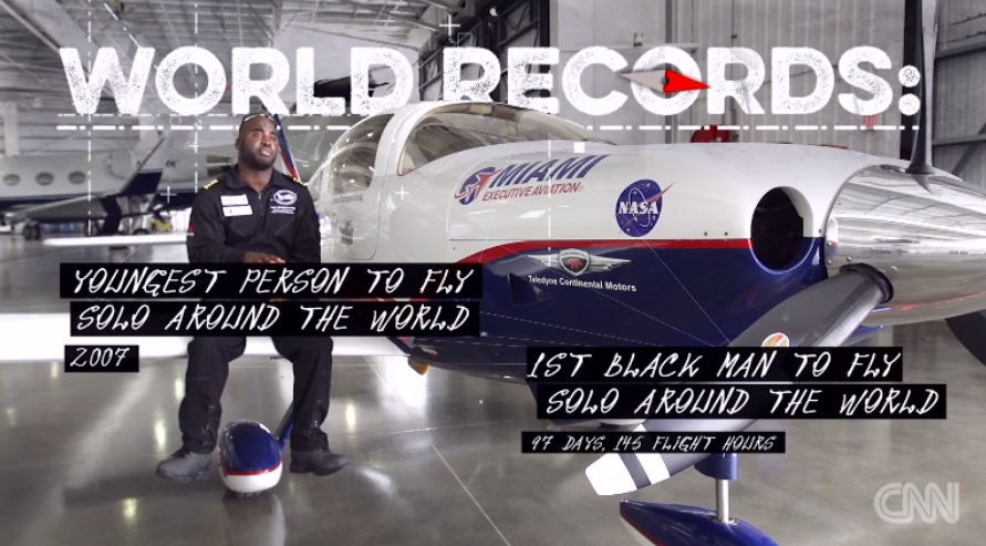 This record-setting pilot is using aviation to inspire the next generation of explorers: