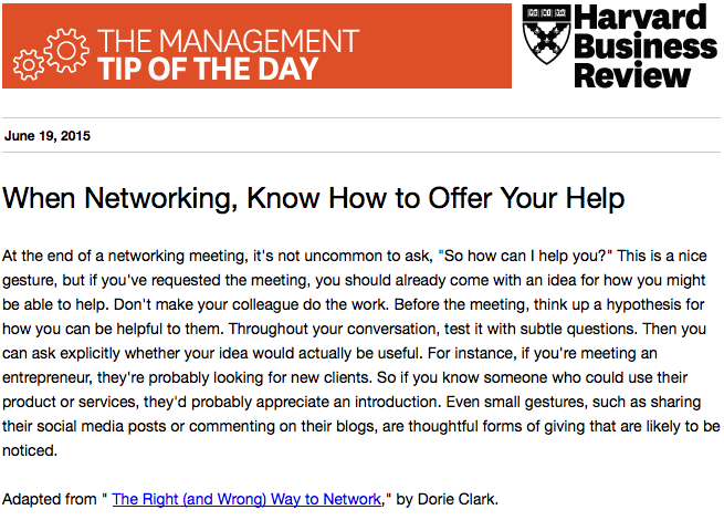Today's management tip: The right way to network http://t.co/ecABD2IvSj