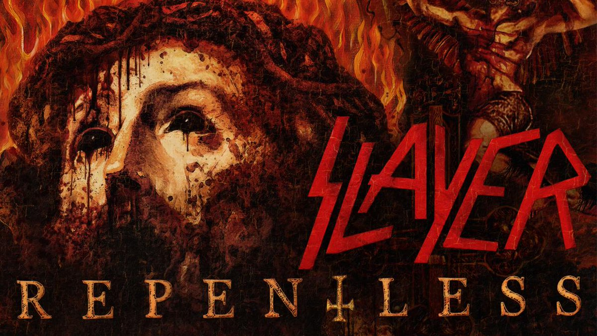 TRACK PREMIERE! Listen to the new @Slayer title track #Repentless at https://t.co/VuKcywzu1D. http://t.co/D9NliZM0KH http://t.co/gRijW5umNM