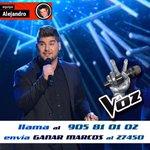 RT @FanClubMASes: Venga sanzer@s! A votar por @MarcosMLaVoz! 905 81 01 02  o  enviar un sms con GANAR MARCOS al 27450