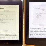 What does an extra $80 get u for the @Amazon Kindle Voyage? A shaper, more paper like experience than the Paperwhite