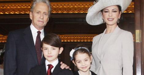 Whoa! See Michael Douglas & Catherine Zeta-Jones' rarely-seen teen kids (via @toofab)