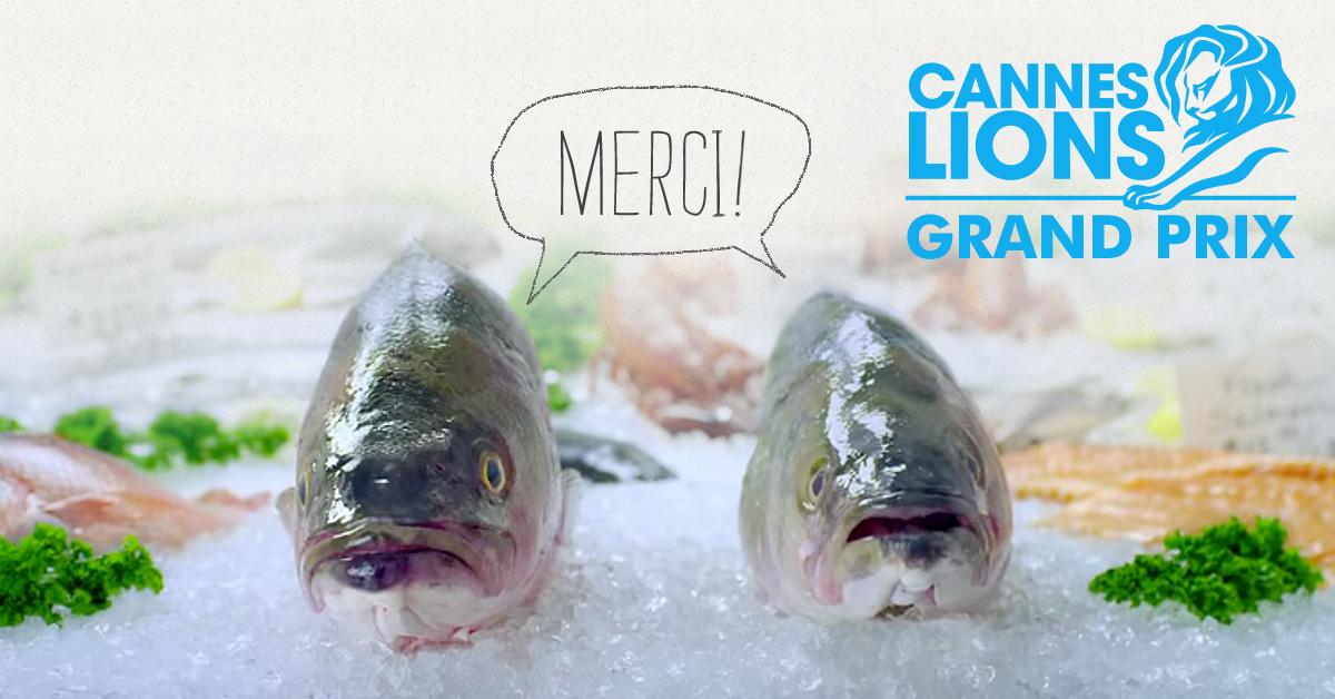 2015 #CannesLions Pharma GRAND PRIX goes to DigitasLBi. Great storytelling + 2 AstraZeneca 'spokesfish' = MAGNIFIQUE! http://t.co/qVFySDAkC4