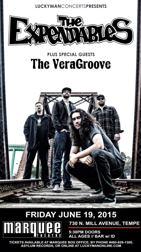 After 2 year hiatus The VeraGroove is BACK! TONIGHT 8:25pm @ Marquee Theatre w/ @TheExpendables http://t.co/YCnub7L3Wu