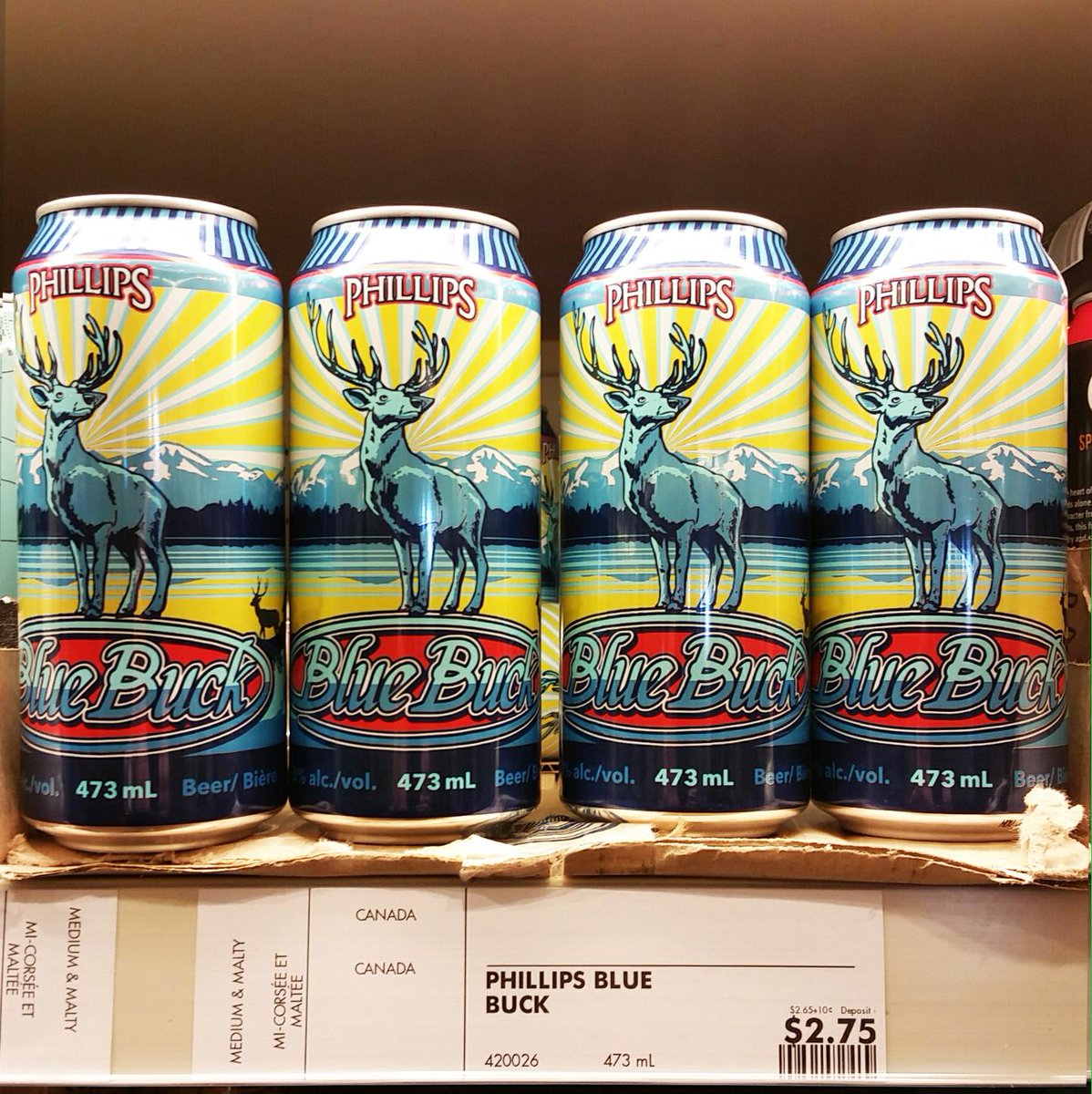 Hey #Ontario, Blue Buck is starting to roll out to stores in time for the weekend!! #craftbeer #bluebuck http://t.co/5D4IOXKKPe