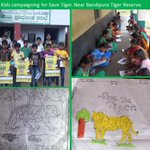 Tiger tales ... forming out of young minds.. Inspiring our   #save tiger campaign... Hope .. Joy.. Energy. Cheers!!! http://t.co/M9LExoVSxC