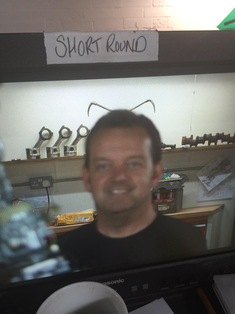 Err, captions please for our Geordie mechanic Phil? http://t.co/qjSPtDW8VQ
