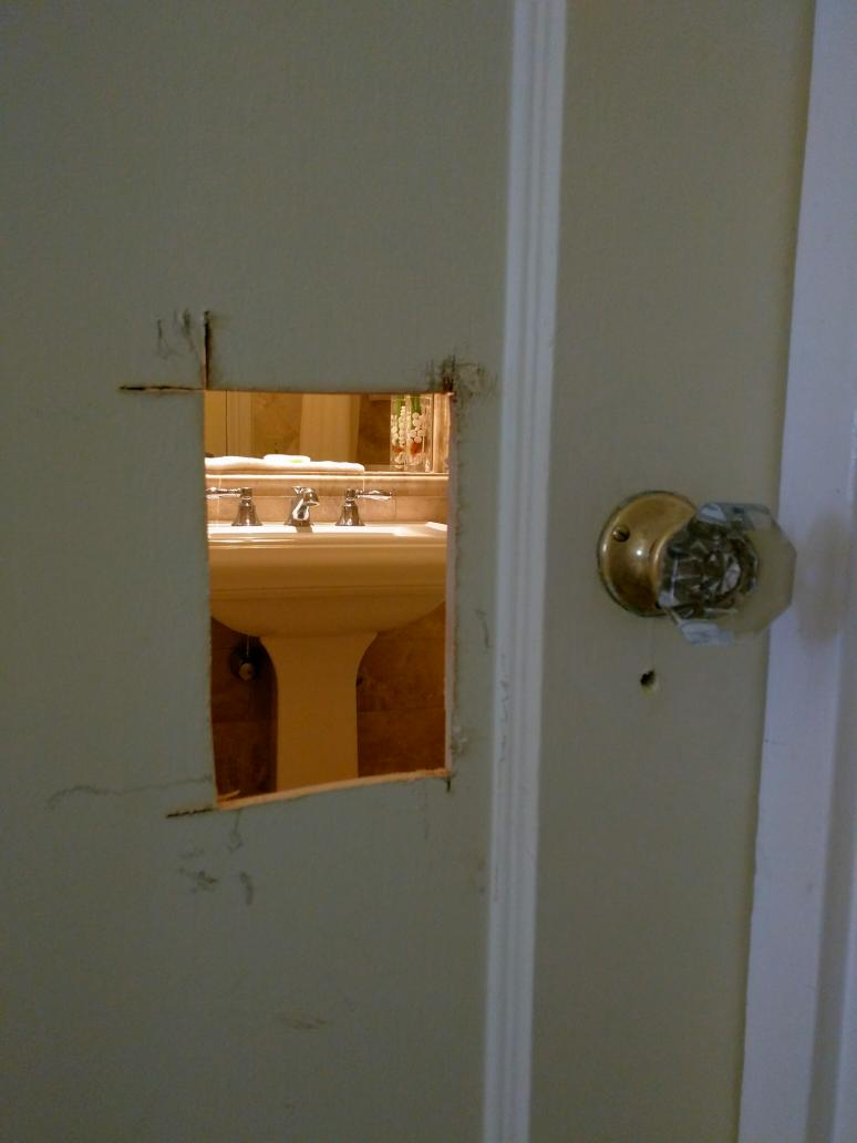 What happens after your toddler locks herself in a hotel bathroom. http://t.co/Kai9gk7v0w