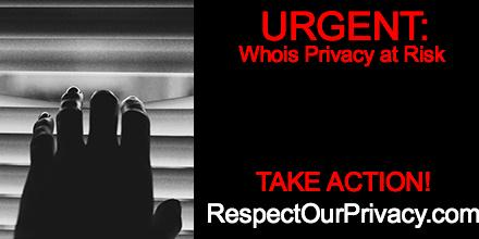 URGENT: @ICANN may take away your right to protect WHOIS info. Let them know that's wrong! https://t.co/5l1FkcF93C http://t.co/6W2iBGdxP9