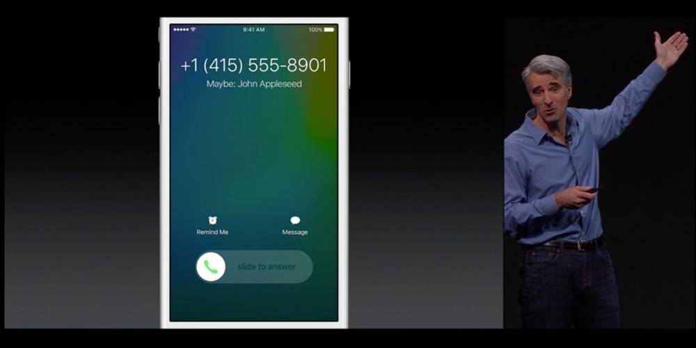 In iOS 9 your Iphone will tell you the name of the person when a new mystery number calls you, no more blocked #'s http://t.co/wGjCkUanjn