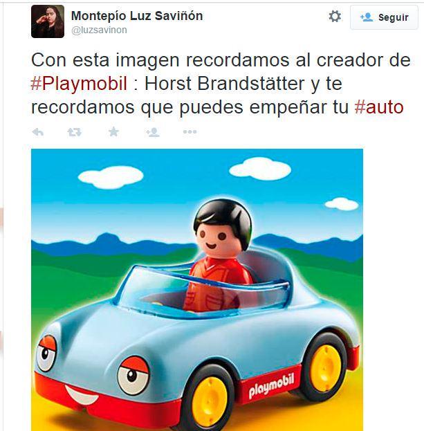 """""""Aprovechando que alguien se murió, les recuerdo que pueden empeñar su auto"""" - @luzsavinon 2015 cc @OphCourse http://t.co/jizjpBVLM6"""