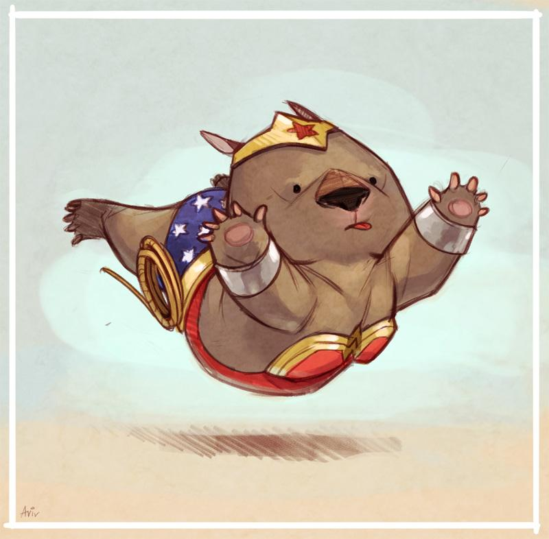 Couldn't pass up this one. #WonderWombat! @Sketch_Dailies #Sketch_Dailies http://t.co/xWRX1znKla