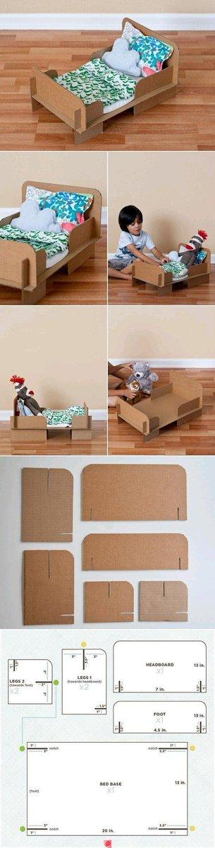 Как сделать кроватку из картона своими руками