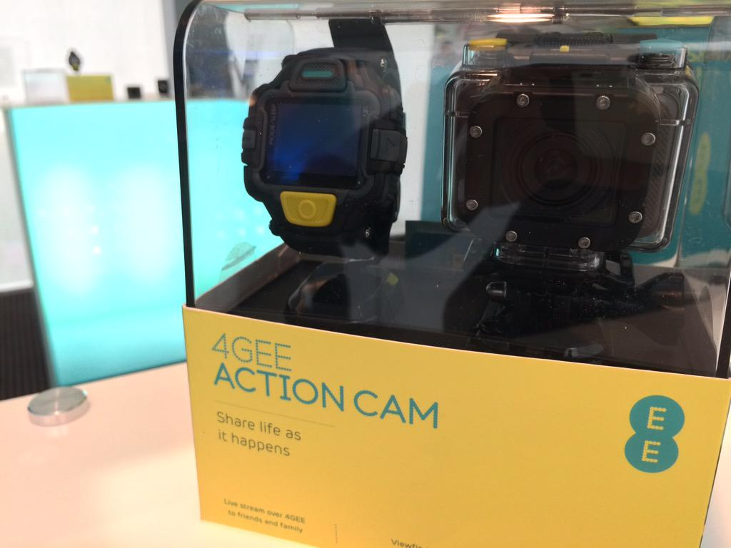 EE reveal world's 1st 4G live action cam with monitor watch. Fits GoPro accessories. 1hr live=1GB=£5apx. http://t.co/9hHJAeuhTu