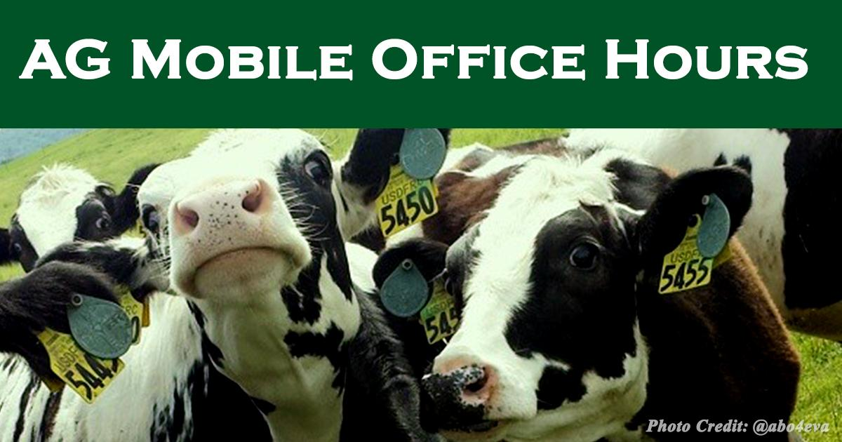 For JuneDairyMonth @SenRonJohnson's staff will host agriculture related mobile office hours
