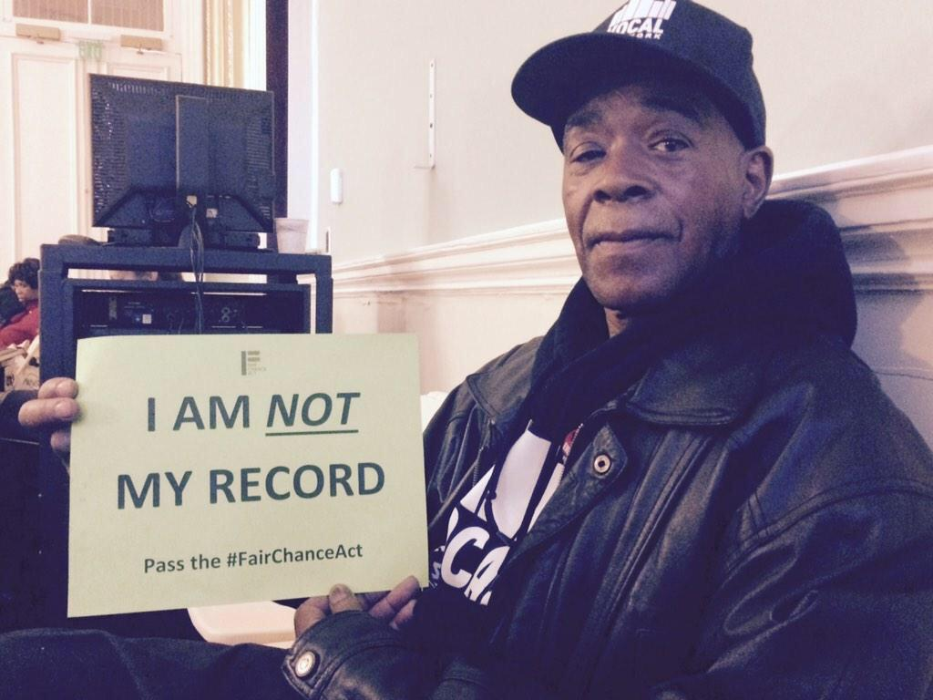 """I am NOT my record"" // Pass the #FairChanceAct on June 10! #BantheBox https://t.co/XADTSwaeAz http://t.co/rZjfC3yUKd"