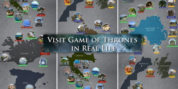 maroc croatie malte une carte touristique des lieux de tournage de game of thrones. Black Bedroom Furniture Sets. Home Design Ideas