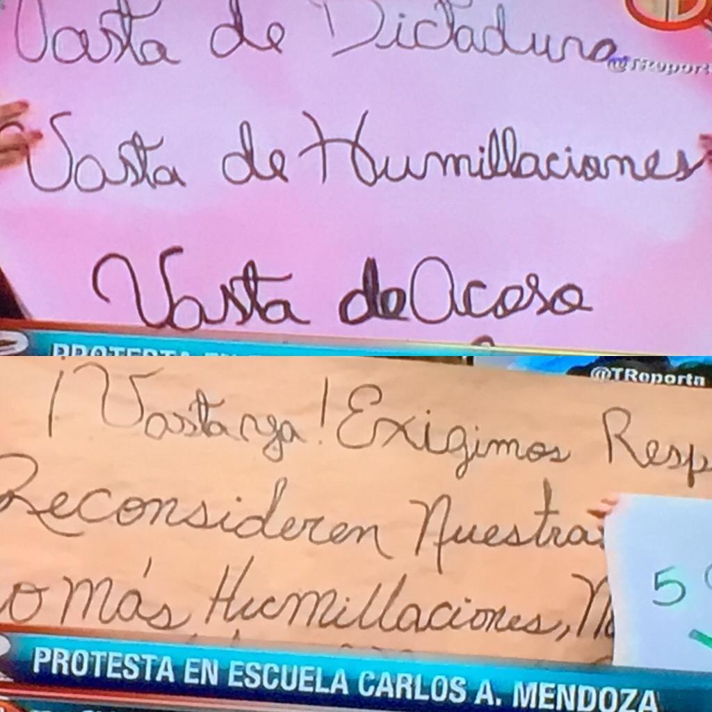 """¡WTF! """"Profesores"""" protestando con estas pancartas en serio ESTO ES MUY PREOCUPANTE.BASTA de mala ortografía digo yo http://t.co/ngQLu9l7sQ"""