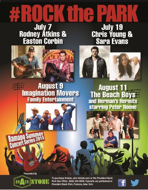 SOOOOO excited to open for @RodneyAtkins​ and @eastoncorbin​ July 7 at @RamapoConcerts​! Gonna be fun!!! #RockthePark http://t.co/ddlBovv7rd