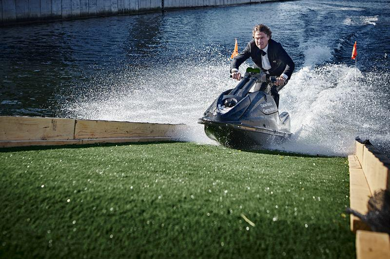 Billionaire crashes jet-ski to celebrate a hotel opening in Sweden