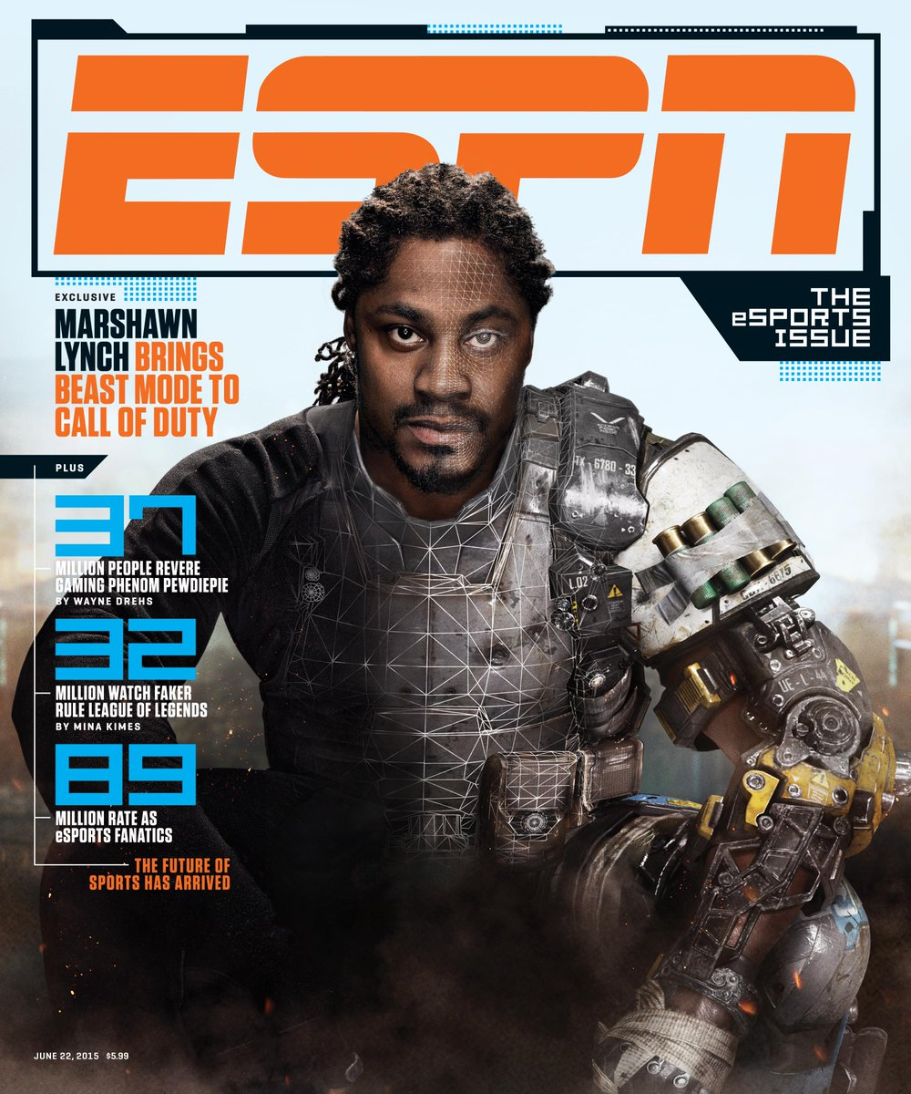 ESPN The Magazine will dedicate its next issue to esports, 'eSPORTS' on the cover. Marshawn Lynch will be in CoD:BO3 http://t.co/ysxZXjcMWY