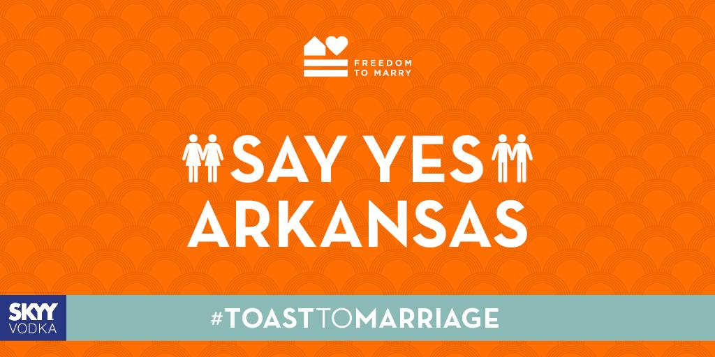 Support for the freedom to marry for all #ToastToMarriage #Arkansas #marriageequality #LoveMustWin @FreedomToMarry http://t.co/VaSMDqwxWt