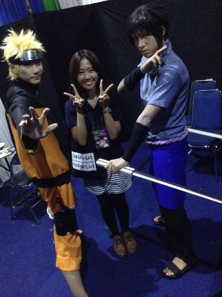 Ga percuma ya jauh-jauh datang dari Konoha akhirnya #NarutoOnGlobalTV menang di #IKCA2015 http://t.co/04Fv5Zerc3