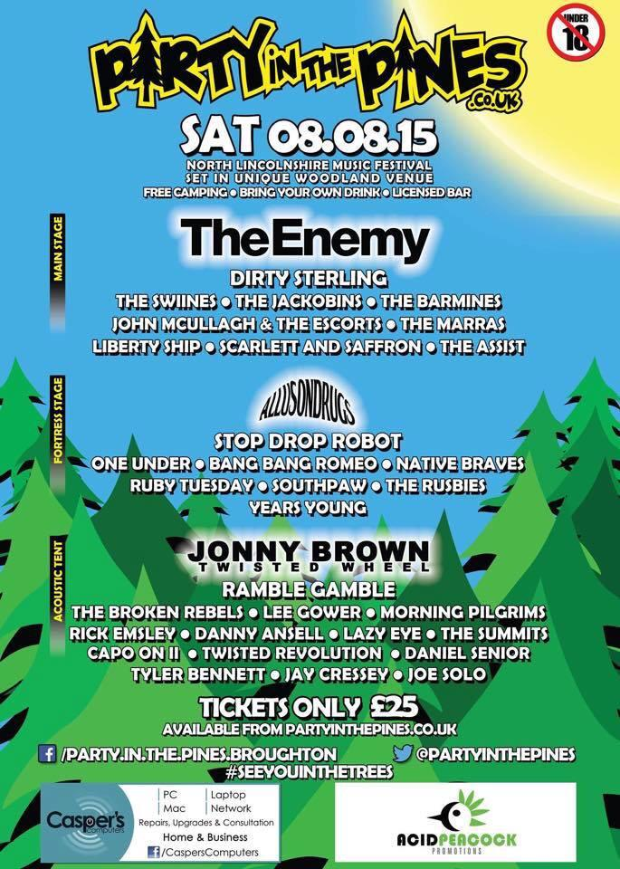 Pines is all cleaned up and cleared away, ready for our next festival in just 58days..   The Enemy 8th August http://t.co/bgzdXh8La1