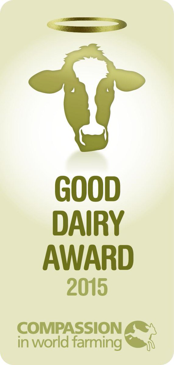 So proud to have won @ciwf's Good Dairy Award! we only use higher-welfare organic milk across our business in the UK! http://t.co/Q8URMpid3W