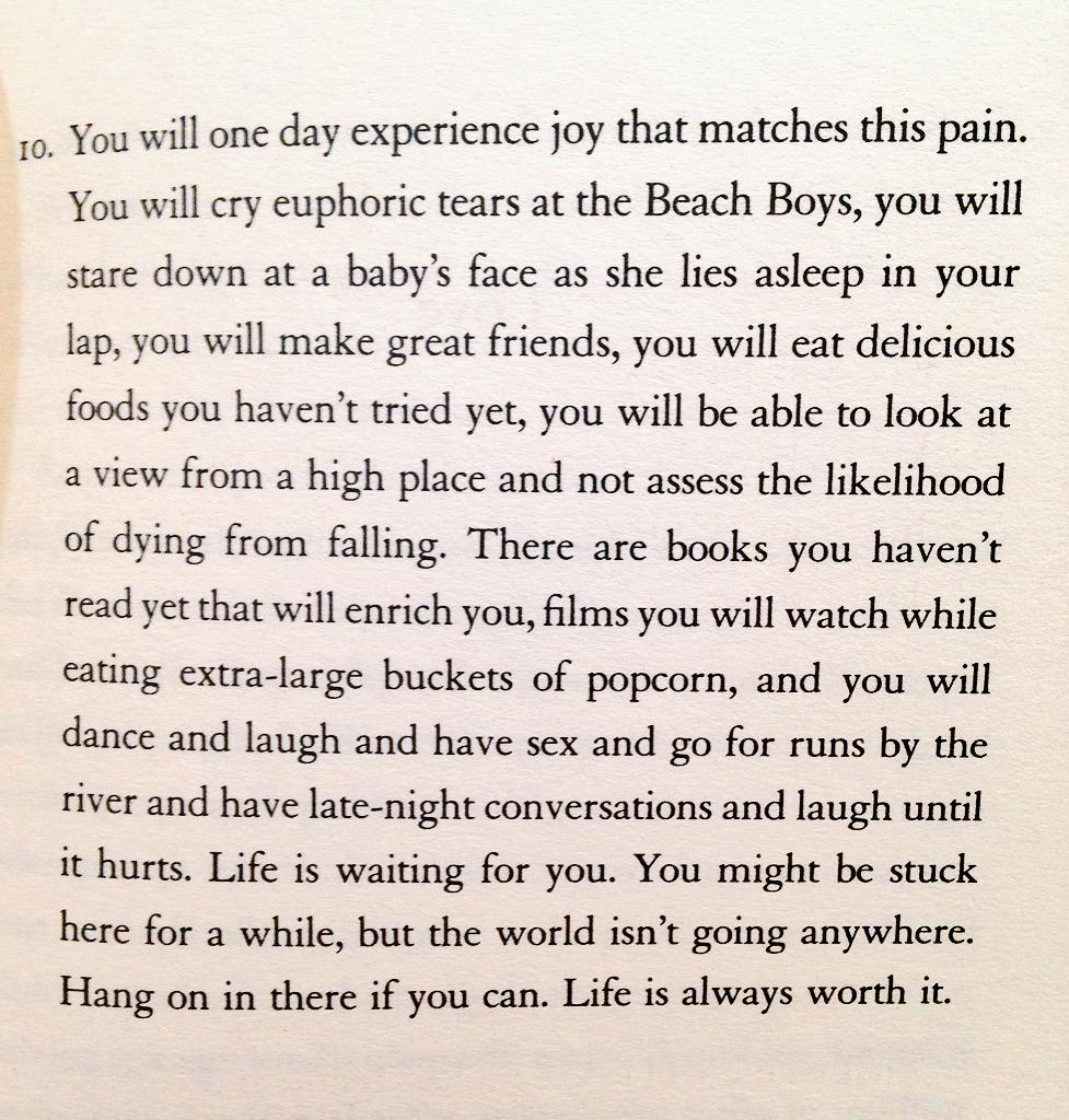 Bought @matthaig1's #ReasonsToStayAlive today & this one paragraph may be the most important thing you'll ever read. http://t.co/uDQbn4UwFO