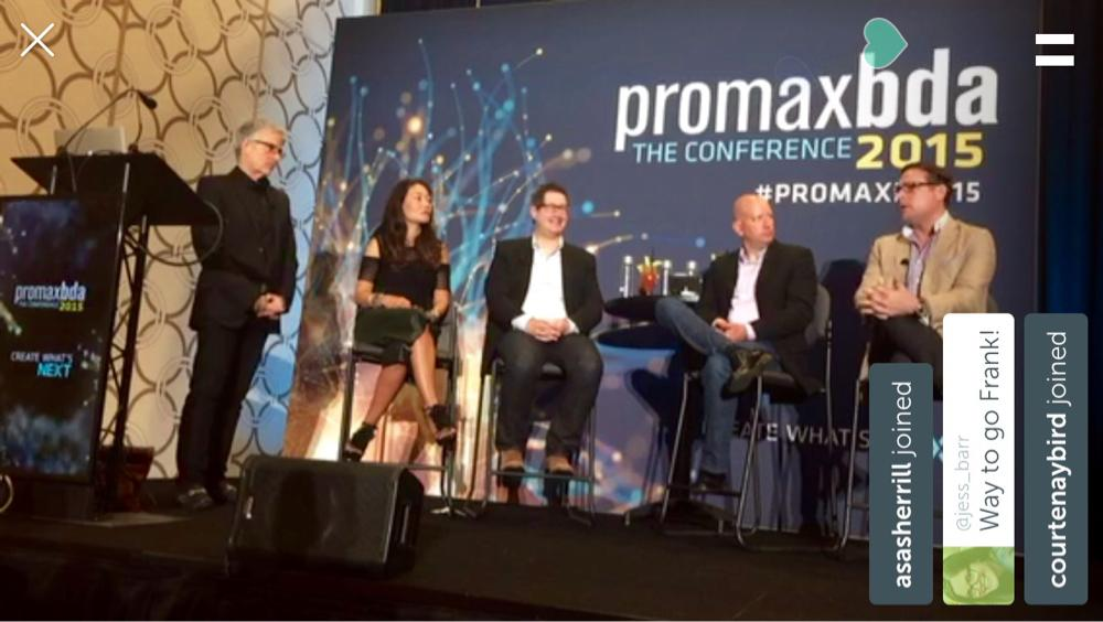 We live in the future! Just live-streamed from #PromaxBDA15 on #Periscope w @Fradice @jesseredniss @lindaong100 @hulu http://t.co/RCRD8p4itK